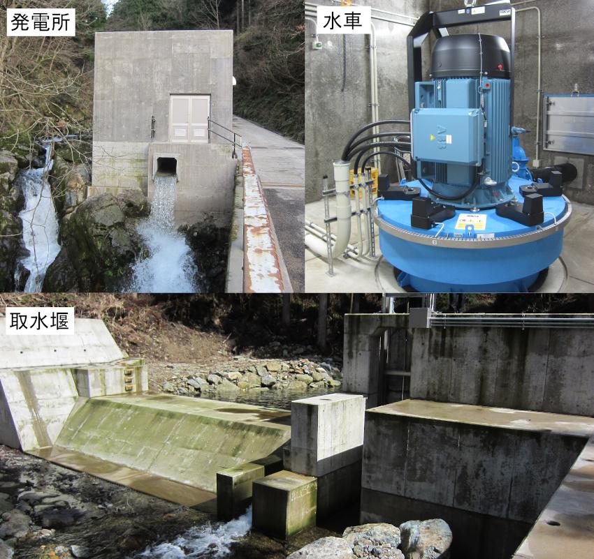 福井県坂井市 榿ノ木谷川水力発電所 運転開始